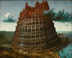 Peter Bruegel the Elder's Tower of Babel. Where all the trouble began....